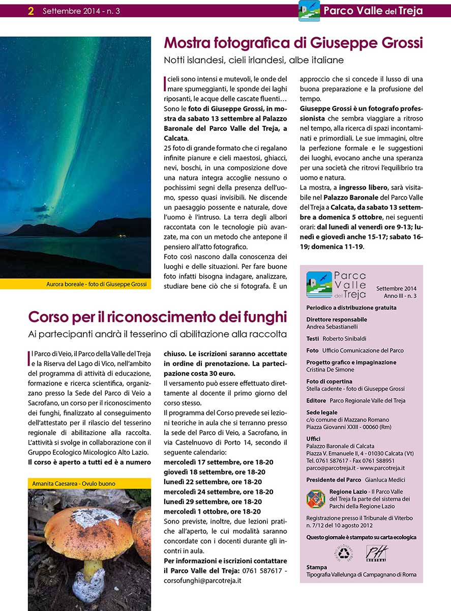 Shades of nature - press parco valle del treja